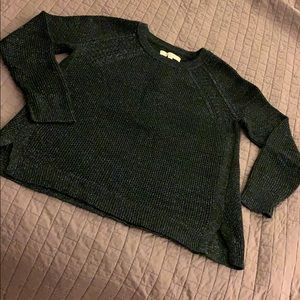 Like new Black sweater with shiny silver flecks